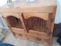 Rustic mexican pine sideboard.