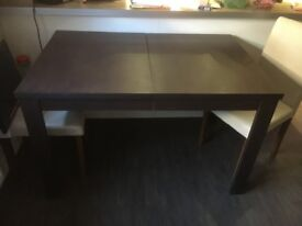Extendable Dining Table and 4 chairs - Can be sold separately.