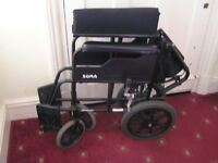 Wheelchair - lightweight, foldable chair in excellent condition.Fits into most car boots.