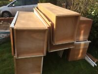 Built in 60,s wardrobes solid FREE up cycle