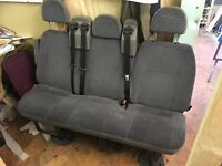 Ford transit / tourneo seats in very good condition with seat belts and arm rest