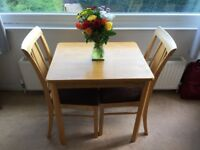Small dining table and 2 chairs kitchen / lounge etc