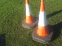 TRAFFIC HIGHWAYMAN WORK CONES HEAVY DUTY XL,3.5 FT TALL X 2FT WIDE AT BOTTOM, JOBLOT X 6 CAN DELIVER
