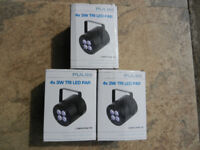 LED Disco Lights 4 x 3 TRi LED PAR ( Lot of three).