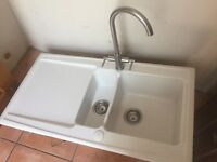 Ceramic sink and tap