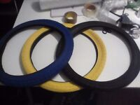 "20"" Bmx Tires BLUE YELLOW AND BLACK"