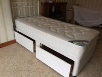 Single divan bed with Headboard & drawers. Only ever used as a guest bed in the spare room