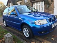 VW polo 1.4 match 2002 very low mileage 12 months mot showroom condition AA/rac welcome reliable car