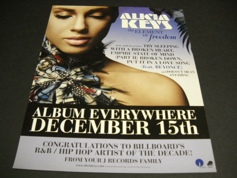 ALICIA KEYS will be EVERYWHERE on December 15, 2009 PROMO POSTER AD ...Freedom