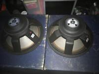 Pair of JBL Professional 2242H 800W RMS each Speaker Drivers