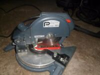 Performance 750w 190mm Compound Mitre Saw and Pro 1200w Workshop Vac with Power Take-off
