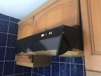 Powerful cooker hood with grease filter, good condition, easy to clean and install