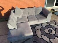 SOLD- Beautiful grey corner sofa delivery 🚚 sofa suite couch furniture