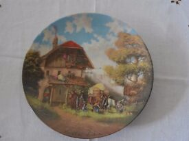 Collectors Plate of 'The Blacksmith' or 'Vor der Schmiede' painted by Christian Luckel
