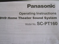 Panasonic DVD Home Theatre Sound System Model No. SC-PT160