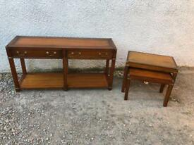 Brass bound Mahogany lounge set * free furniture delivery*