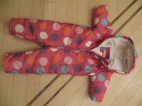 12-18 months John Lewis baby girl snowsuit