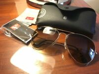 Genuine Ray Ban aviator sunglasses