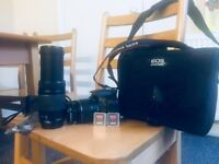 I am selling my beloved Canon EOS 550D camera with 18-55mm and 75-300mm lens.