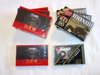 8 NEW/SEALED HIGH QUALITY CASSETTE TAPES - THAT'S, MAXELL, BASF - £39.99 ONO.