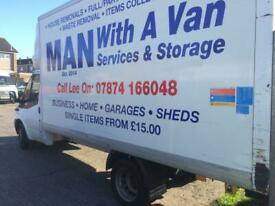 Man with a van services and storage