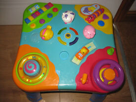 TRULY AMAZING BABY ACTIVITY TABLE - BUTTONS TO PRESS & SOUNDS TO HEAR - IMMACULATE! 6mths+ REDUCED!!
