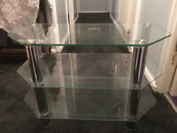 Free to good home: Glass/Chrome TV Stand in very good condition