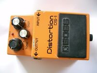 Boss by Roland DS-1 Distortion stompbox-pedal/effects unit for electric guitar - Japan - Choice of 2