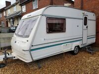 Bailey 2 berth caravan 1997 with full awning
