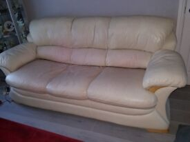 Biege 3 and 2 seater sofas for quick sale open to offers stain off throwover pro clean will do it