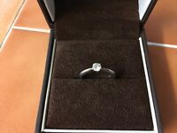 18k White Gold Solitaire Engagement Ring size L 0.29 carat