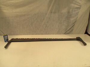 Scie à bois antique manche en bois 48'' de long