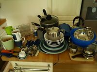 Complete contents of motor caravan kitchen. Everything you need to start camping or caravanning .