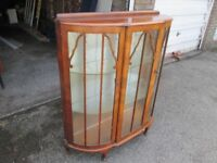 Antique Bow Fronted China / Porcelain Cabinet £45.00