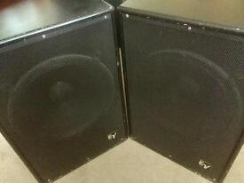 EV bass bins with covers