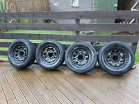 Suzuki jimny vitara sj wheels and near new tyres