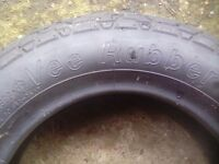 Vee rubber tyre. 300x8 tubed tyre