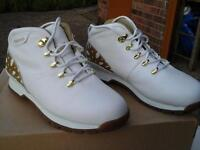 Ladies white Timberland boots