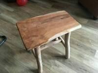 Solid oak stools / side tables
