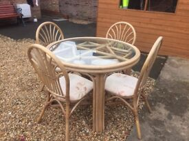 cane table chairs