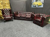 OXBLOOD CHESTERFIELD SUITE