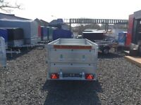 BRAND NEW M0DEL 7.7x4.2 SINGLE AXLE TRAILER- DOUBLE BROADSIDE TIPPING