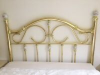 Gold colour head board 4ft 6in