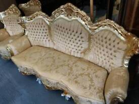 French Carved 3 Seater Sofa