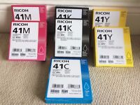 RICOH 41 PRINTER CARTRIDGES - Boxed and sealed