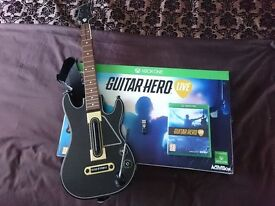 Guitar Hero Live with Guitar Controller & USB connector for Microsoft One Boxed