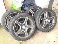 Mercedes AMG Alloys With Tyres