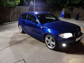 "2007/57 Bmw 118D m-sport Auto Le mans blue 130k Fsh 18"" twin spoke Alloys leathers park.aid long mot"