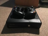 Xbox 360 Elite 250GB, with 2 Controllers, complete set of original cables + 1 HDMI cable.