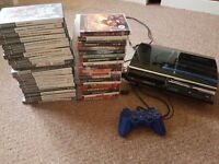 Selling backwards compatible ps3 60 gb, with controller, 19 ps3 games and 20 ps2 games